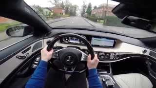 Mercedes S-Class S500 L Plug-In Hybrid 2014 POV test drive GoPro