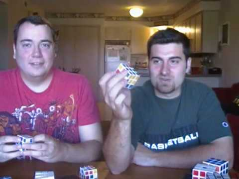 3) DIY Speed Cube Review   Type B speed cube. Type A II speedcube (old version) and Mini Diansheng