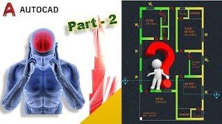 How to draw a Simple Floor Plan in AUTOCAD : Simple and Easy (beyond basics) - Part 2