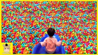 Indoor Playground Fun for Kids and Family Play Rainbow Slide Colors Balls   MariAndKids Toys
