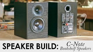 C-Note Bookshelf Speakers Kit Build    Built In WiFi & Bluetooth Amp!