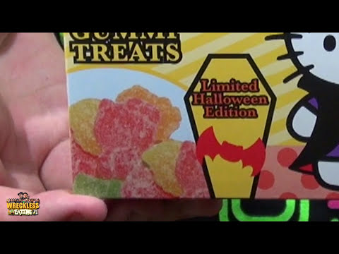 HalloWEen Shorts - Monster Lollipops & Hello Kitty Sour Gummi Treats