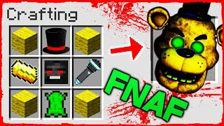 Minecraft FNAF - How to Summon GOLDEN FREDDY in Crafting Table!
