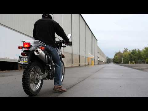 Suzuki DR650 with GSXR 1000 Titanium Exhaust