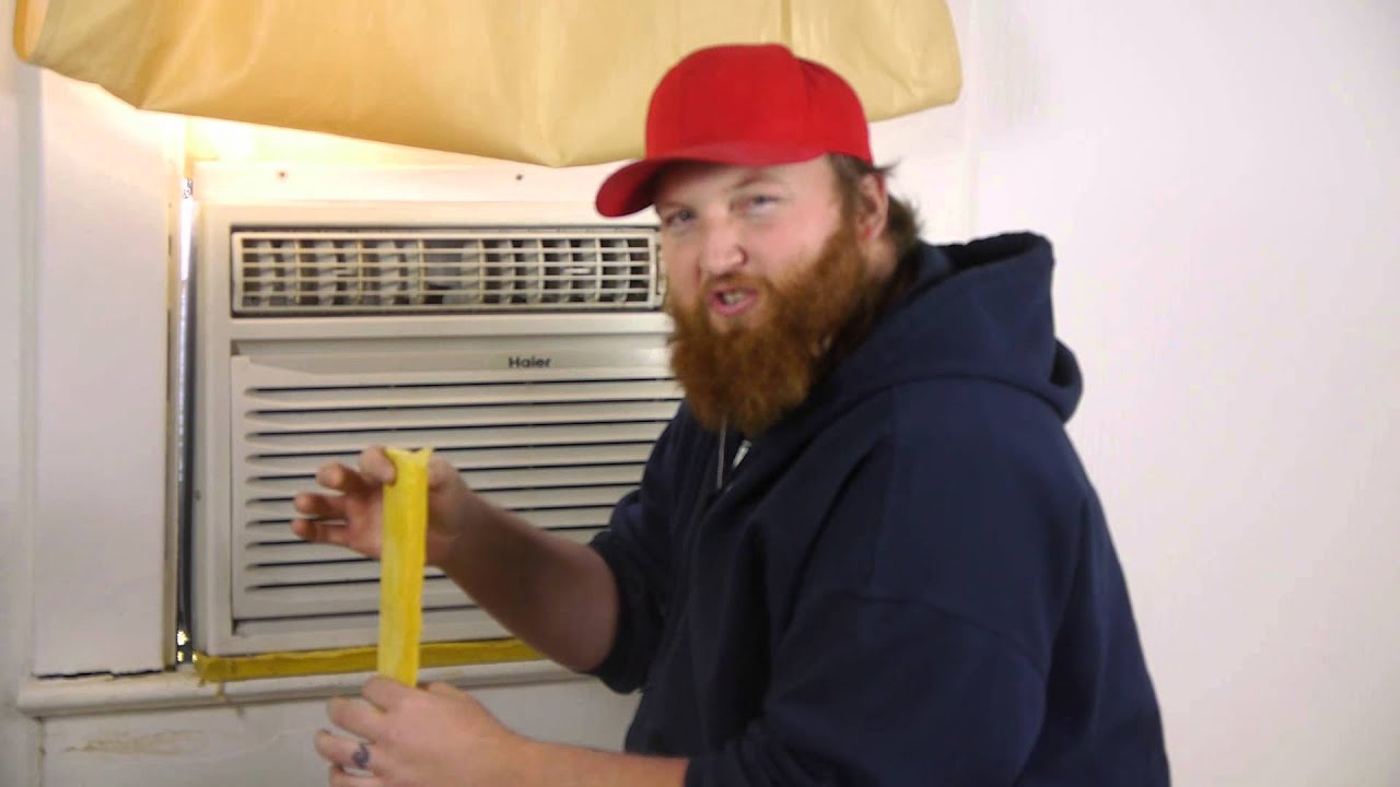 How to Seal an Air Conditioner Window Gap : Air Conditioning   #AD1E22