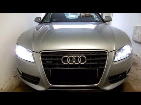 Xenon tauschen. Audi A5 TDI 3.0. linker Scheinwerfer. D3S