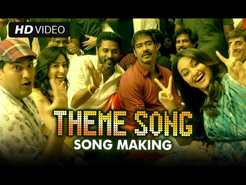 Making of (AJ Theme Song) | Action Jackson | Ajay Devgn, Prabhu Dheva & Sonakshi Sinha