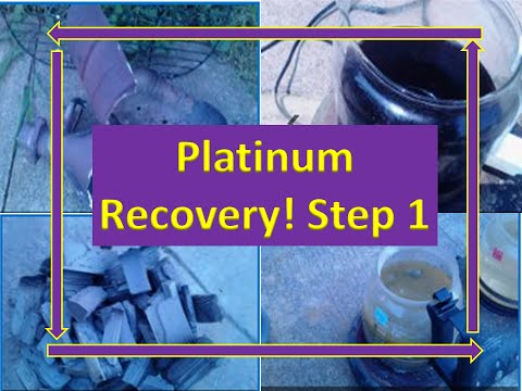 DIY Step 1 Platinum/Palladium Recovery From Catalytic Converters