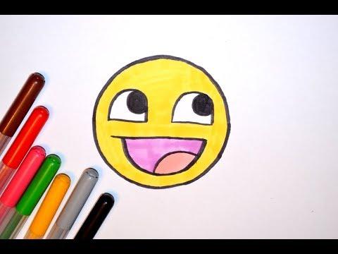Как нарисовать смайлики. Учимся рисовать смайлы. How to draw smileys Emoji. Drawing a smiley face