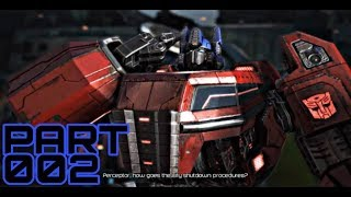 Transformers Fall Of Cybertron Gameplay #002 OPTIMUS PRIME