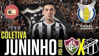 [Série A '18] Coletiva Juninho | Rádio | Pós-jogo Fluminense FC 0 X 0 Ceará SC | Canal do Vozão