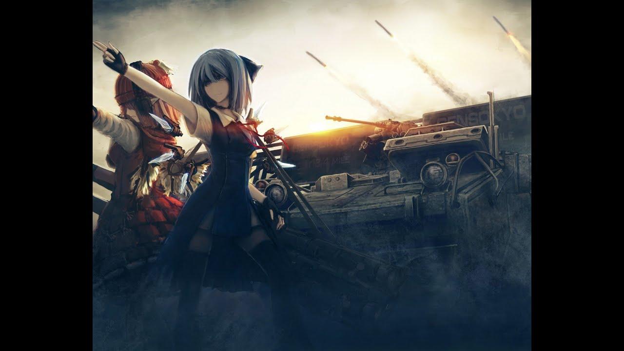 Обои на рабочий стол 1920х1080 аниме девушки с оружием