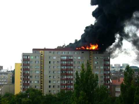 Pożar W Szczecinie Na Cyryla I Metodego 7 Sierpień 2011