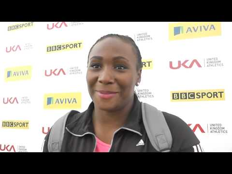 Aviva Birmingham Grand Prix   Eden Francis Womens Shot Put