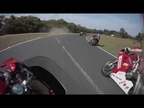 Australia National Bears Rnd 2,Race 3 on board Moto Guzzi MGS01 with GuzziManMike