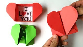Origami: Caja de corazón y sobre - Origami: Heart Box & Envelope