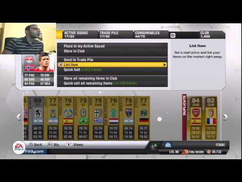 FIFA 13 TOTS LIGA BBVA 25K Packs Pack Opening Live & Facecam Ultimate Team