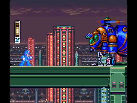 Mega Man X - Central Highway Opening Stage - User video