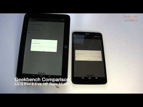 Geekbench LG G Pad 8 3 vs  HP Slate 10 HD