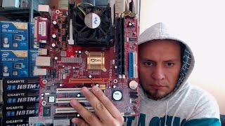 Motherboard Pcchips P25G V3.0 Socket 478  Ram DDR 768MB  Procesador Pentium 4 Support Windows 7