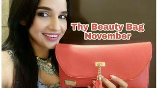 Thy Beauty Bag November 2017 | Unboxing & Review | Organic Skincare & Makeup Monthly Subscription |
