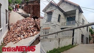 """Kinh hoàng """"hố tử thần"""" nuốt gọn căn nhà tiền tỷ ở Hà Nội   VTC News"""