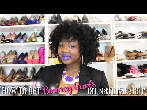 ♥ How To Get Big Bouncy Curls On Natural Hair ♥ video