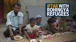 Iftar with Rohingya refugees in India