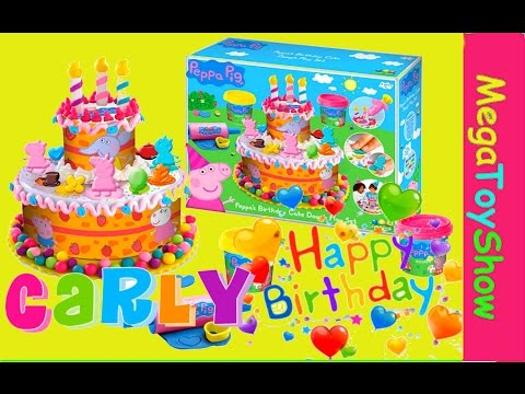 Peppa Pig Play doh Birthday party cake dough playset torta  Cumpleaños  Bolo de