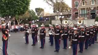 1st Marine Division Band Disneyland Veterans Day 2014