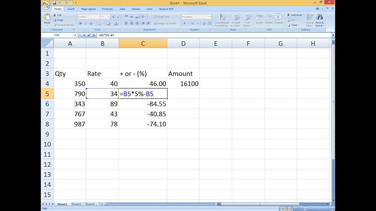 Как в excel сделать формулу в процентах в 655