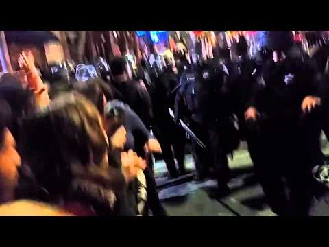 POLICE BRUTALITY @ UC Berkeley Student March 12/6/14