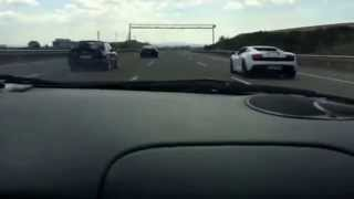 BMW e30 2jz vs GTR Alpha9 e85 vs Lambo ROLL II