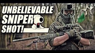 UNBELIEVABLE SNIPER SHOT! : paintball sniping with First Strike