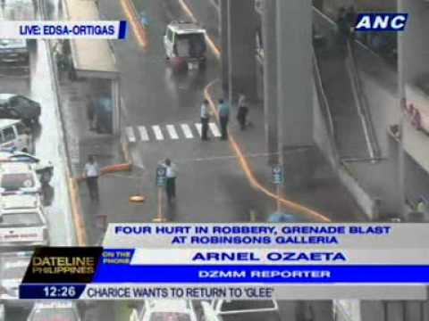 DZMM's Arnel Ozaeta: Number of injured in the robbery incident at Robinson's Galleria now at 6