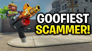 The Worlds Goofiest Scammer Ever Scams Himself Scammer Get Scammed Fortnite Save The World