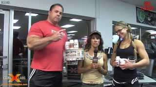 GenXlabs- Ryan Kennelly Ashley Condrey talking with Tammi Bradford at the RAB Strength Wars