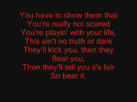 Beat It by Michael Jackson Lyrics Music Videos