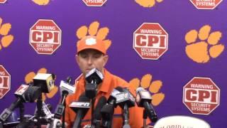 TigerNet.com - Dabo Swinney FSU postgame press conference - Part 1