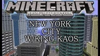 Minecraft Xbox Edition- -HUGE- New York City Map DOWNLOAD