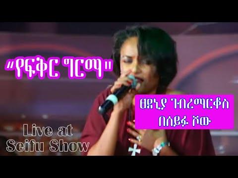 Tsedenya Geberemarkos Live On Seifu Show