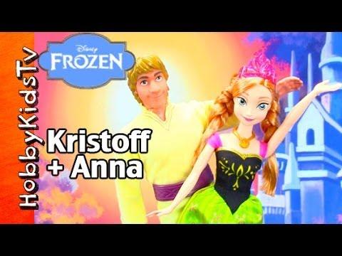 Disney FROZEN Anna + Kristoff Doll Toy Review. Box Opening by HobbyKidsTV