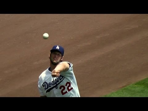 Clayton Kershaw Complete Pregame Warmups Part 1 - Stretching & Running