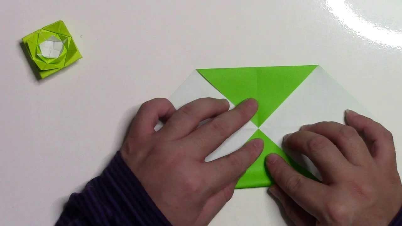 すべての折り紙 バラ作り方 折り紙 : 折り紙 折り方】薔薇の花(バラ ...