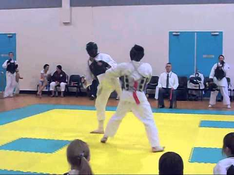 Qld State Titles 2012 Chitoryu Karate, Mens Kumite GC vs SC Darren Goodwin vs Raphael Borleis Image 1