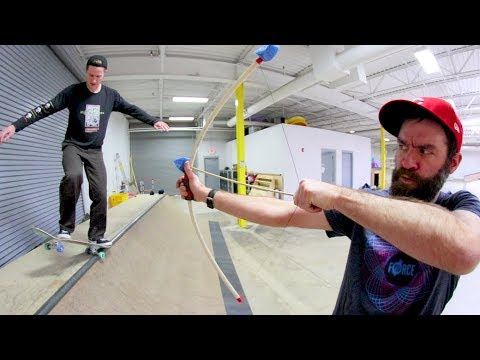 Skateboarding While Getting Shot By A BOW & ARROW  / Warehouse Wednesday