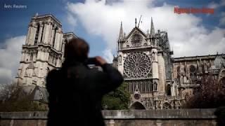 Toàn cảnh nhà thờ Đức Bà ở Paris sau đám cháy lớn tàn phá