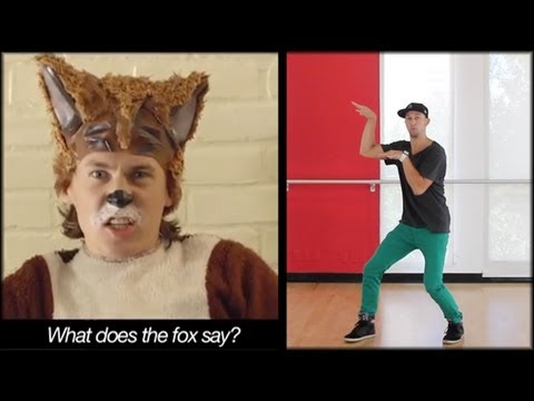 The Fox - Ylvis Dance Tutorial | What Does The Fox Say (mirrored) | Music Video Choreography video