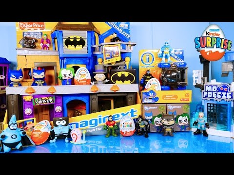 Batman Imaginext Playset Toys Mega Opening Kinder Surprise Egg Hunt Spiderman Disney Cars Toy Club
