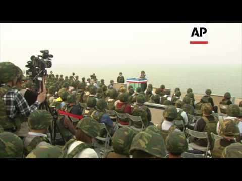 President Ma Ying-jeou watches joint military live fire drill